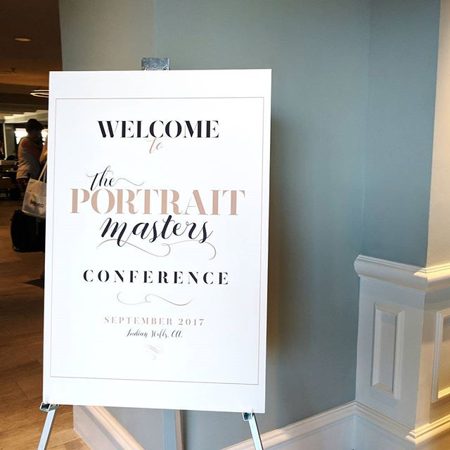 So excited to be here, at #theportraitmasters conference! 😍💕 #suebryce #conference #palmsprings #lucynaaleksandraportraits