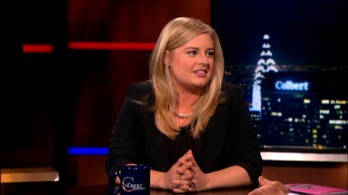 See Kjerstin on The Colbert Report  HERE .