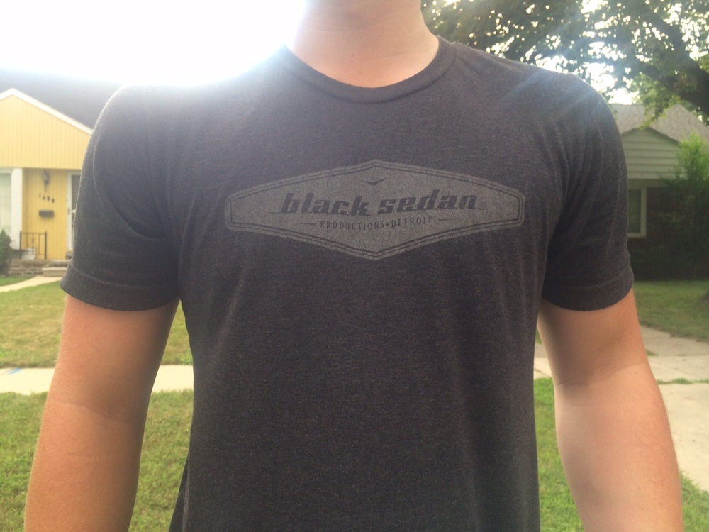 <strong>Black Sedan crew shirt. Get yours on the next shoot</strong>