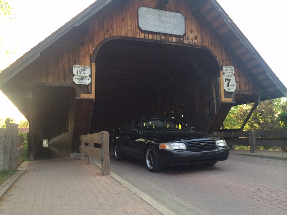 <strong>Black Sedan in Frankenmuth</strong>