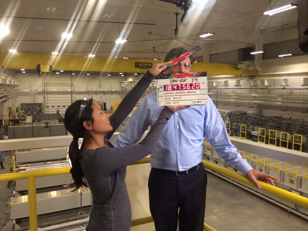 <strong>Diana helps out at a corporate shoot at Guardian Industies in Carlton Michigan</strong>