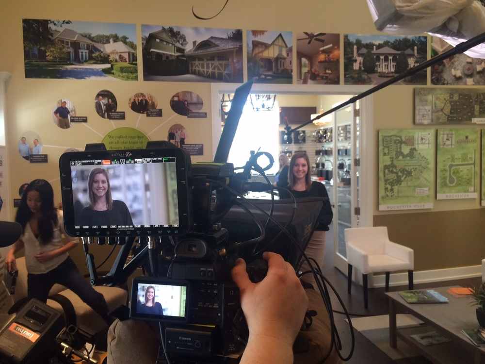 <strong>on location at showcase house for Arterra Realty</strong>