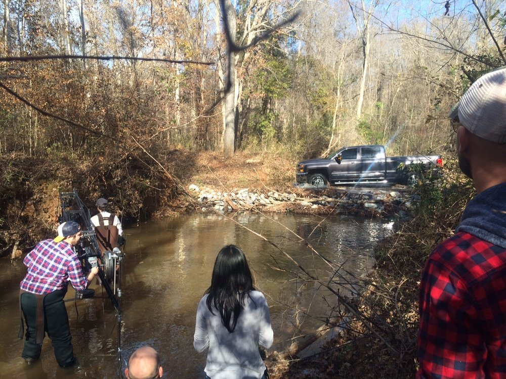 <strong>Shooting in a river for Chevy in Georgia</strong>