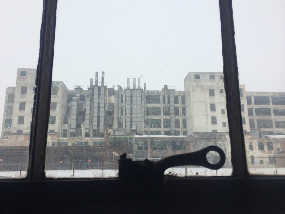 <strong>The view from Black Sedan's Detroit office</strong>