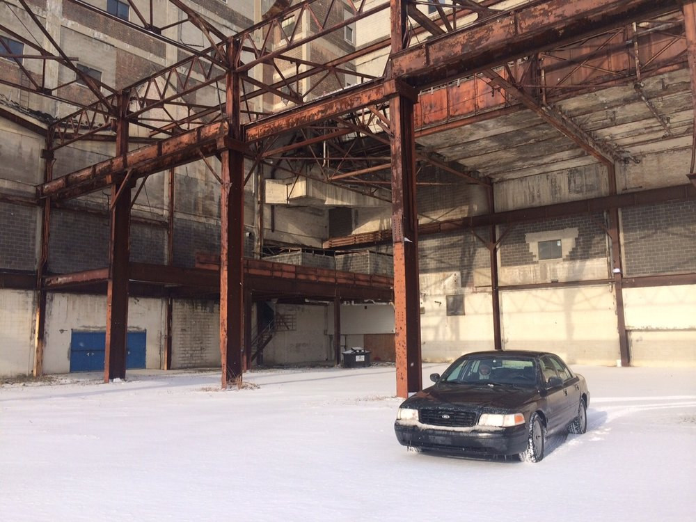 <strong>Black Sedan on location at Russell Industrial Center in Detroit</strong>