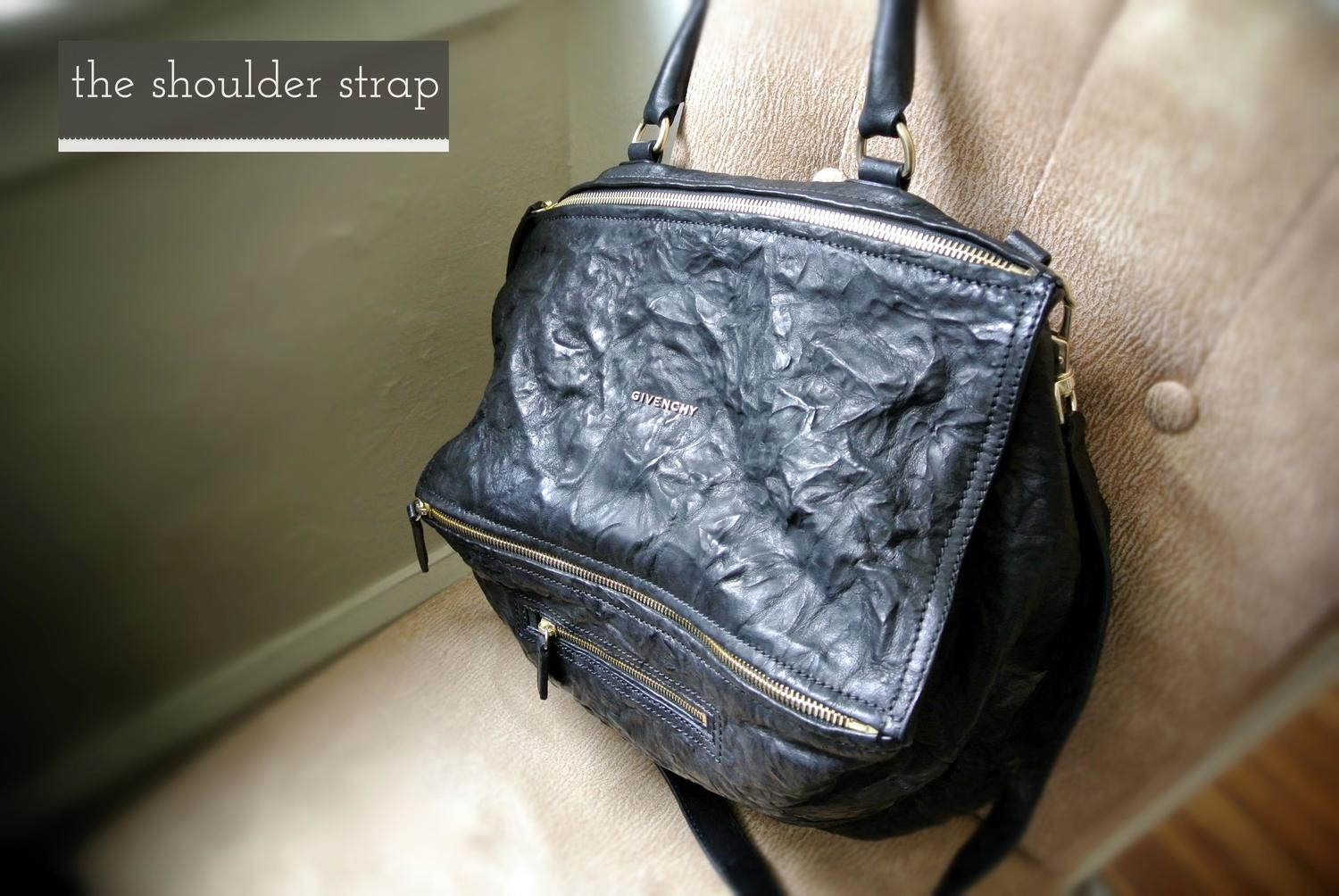dade974df7f1 Givenchy Large Pandora Messenger in Black Pepe Leather — The ...
