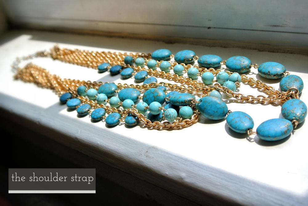 Rachel Reinhardt Gold & Turquoise Bib Necklace