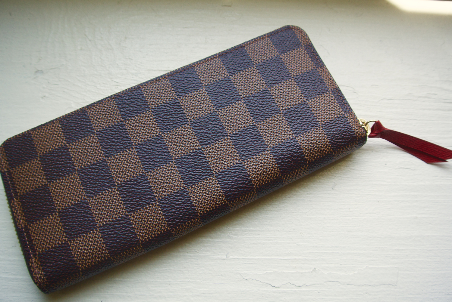 Louis Vuitton Damier Ebene Clemence Wallet — The Shoulder Strap 4b527a73d77