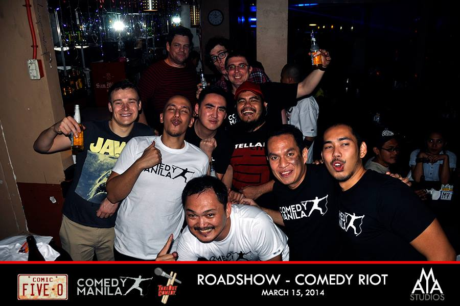 TakeOut Comedy roadshow with the Comedy Manilla crew