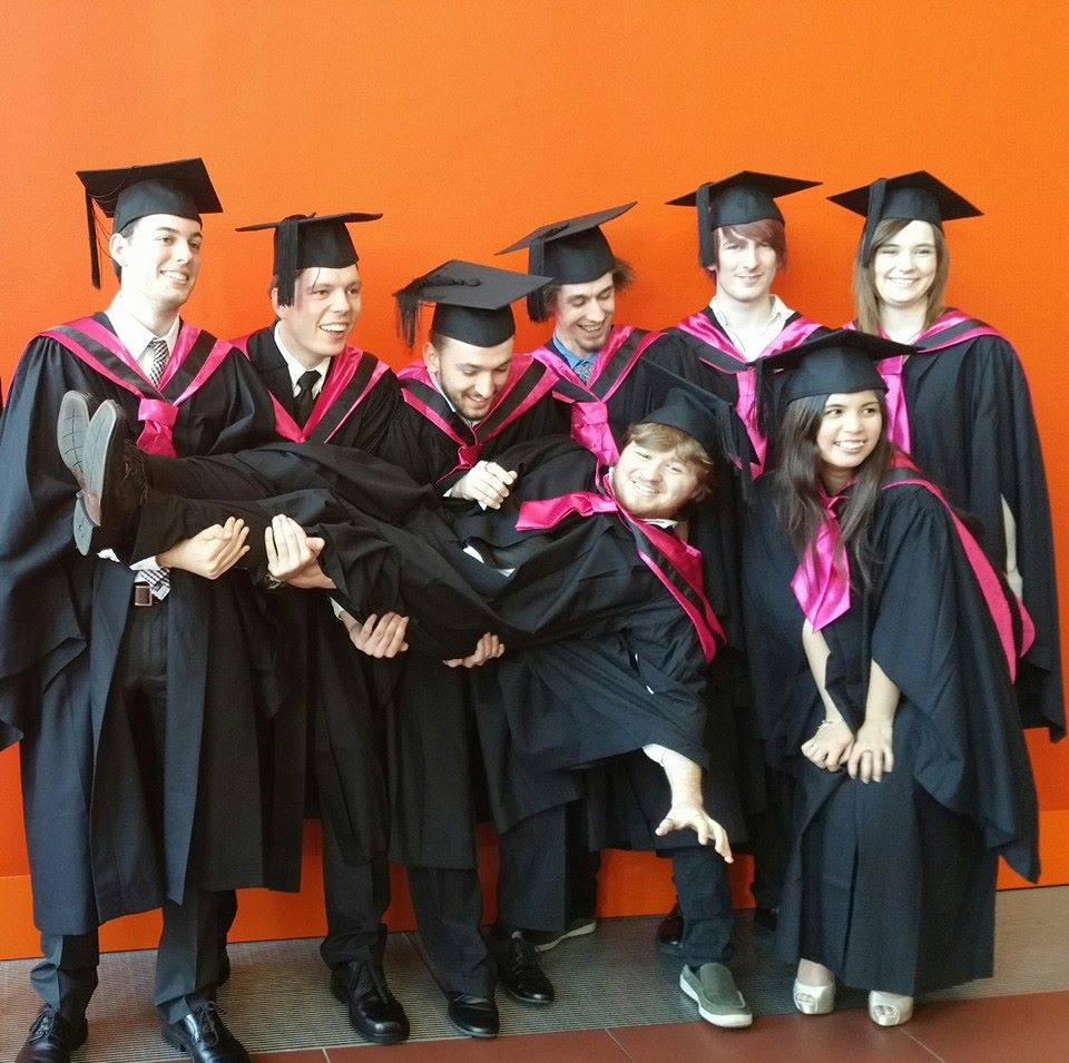 Animation graduates support their classmate     (Photo by Raphael Maranon).