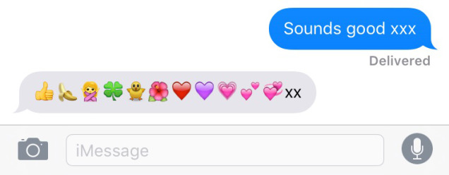 My mother's emoji use in text message