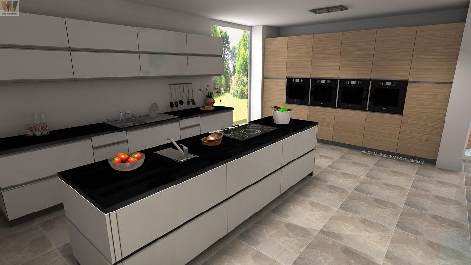 3d Computer Kitchen Design