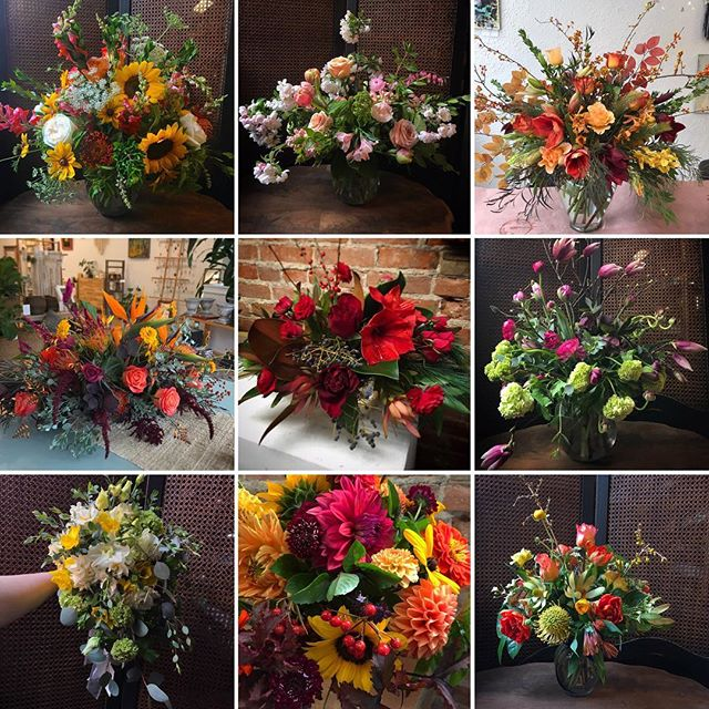 Happy Holidays to all the flower lovers! Here are some of my favorite seasonal arrangements from this past year. May warmth and beauty surround you this holiday season! #flowersbyphoebe #flowersallseasonlong #flowersforeveryseason #slowflowers #goshenfloraldesigner #growerdesigner
