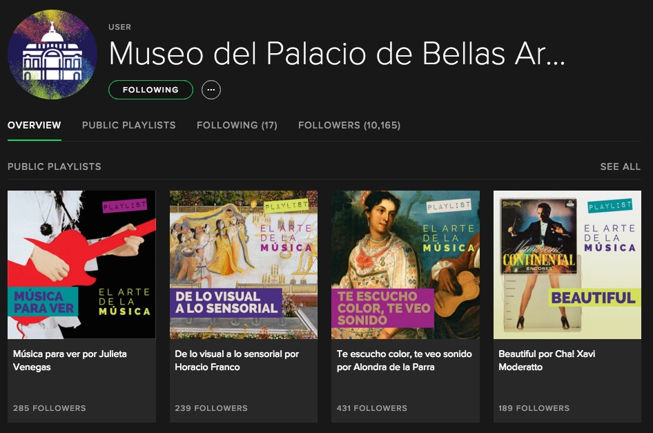 Museum Spotify Playlist | Image courtesy of Museo Bellas Artes