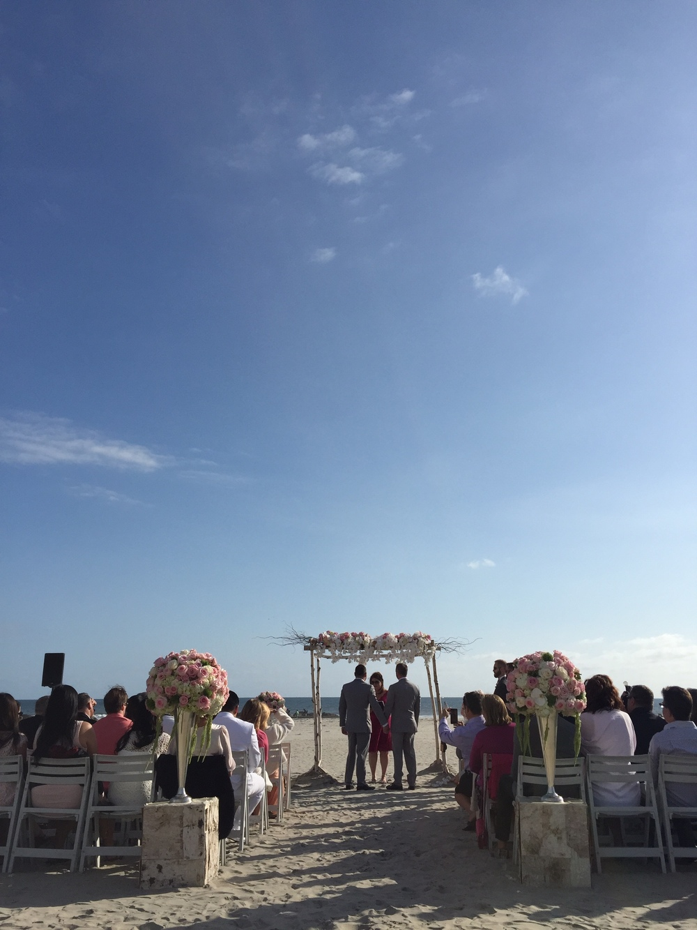 Brian and Todd commit to a life together in  a beach wedding at the Hotel Del Coronado.