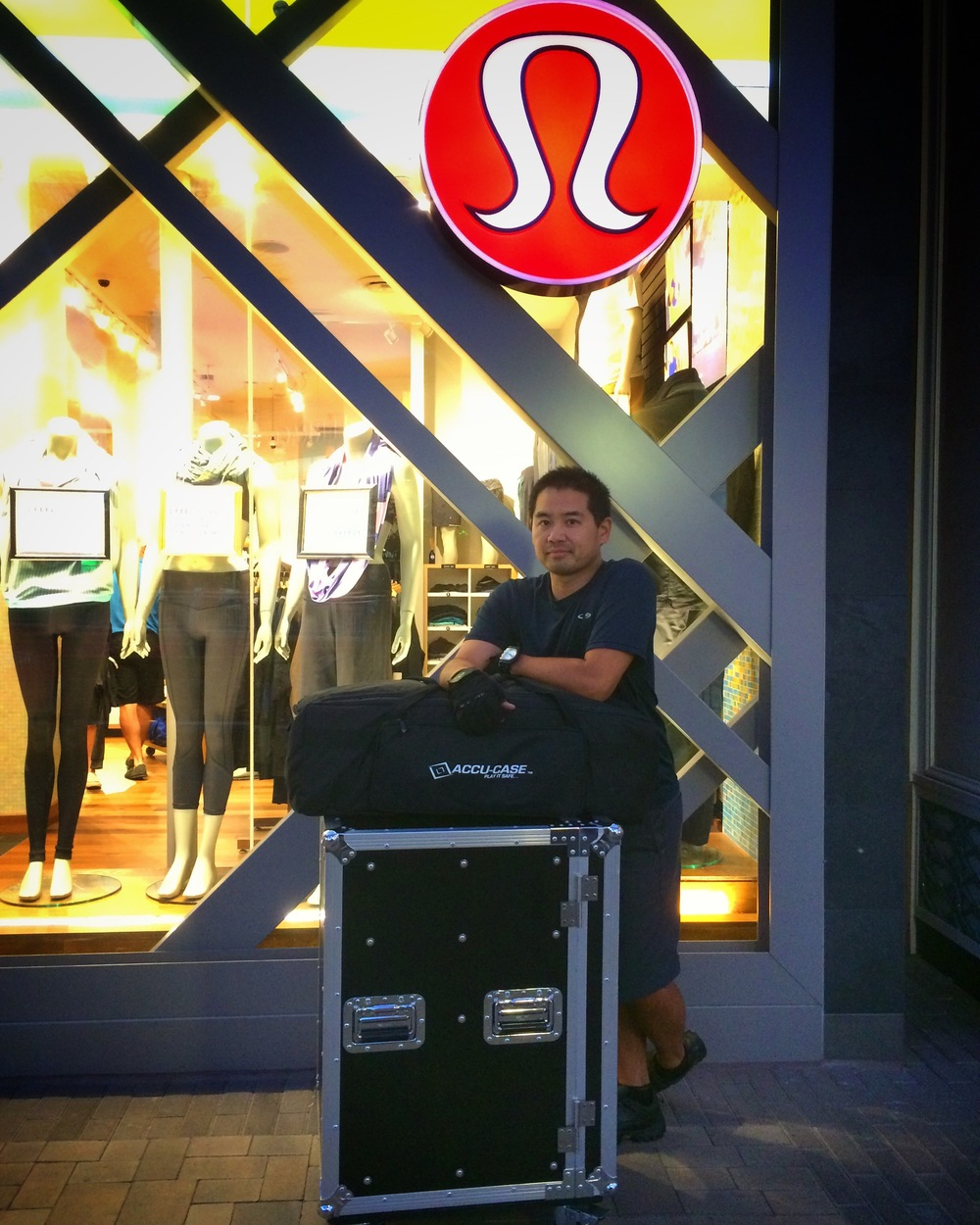 Rolling in for the gig at Lululemon Fashion Valley.