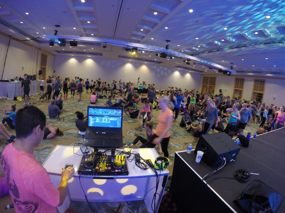 Live DJing a November Project workout at the Lululemon Leadership Conference.