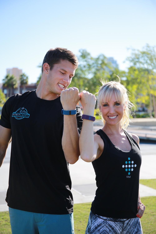 Fitbit San Diego ambassadors, Mike Sherbakov and Sheri Matthews.