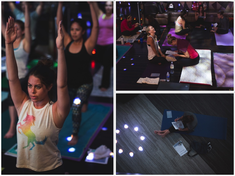 Yoga Flow for Event Pros  is a yoga event combined with goal   coaching tailored for San Diego's special event and wedding professionals.