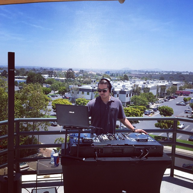 San Diego wedding and special event DJ, Justin Kanoya, provides lunchtime tunes for Proven Recruiting.
