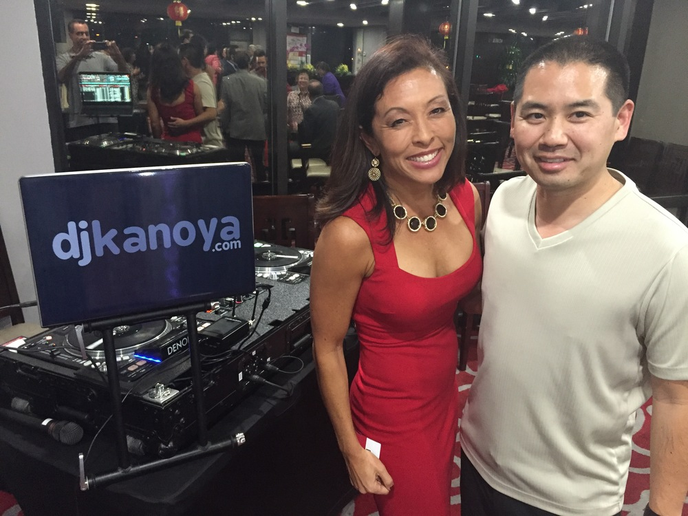 President and CEO of the Asian Business Association, Wendy Urushima-Conn and San Diego DJ, Justin Kanoya.