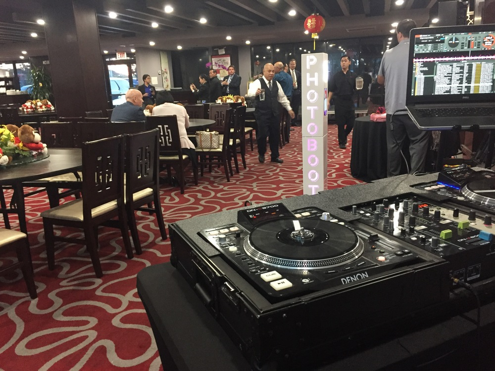 San Diego DJ, Justin Kanoya, provides live DJ service at the Asian Business Association of San Diego's Lunar New Year party.