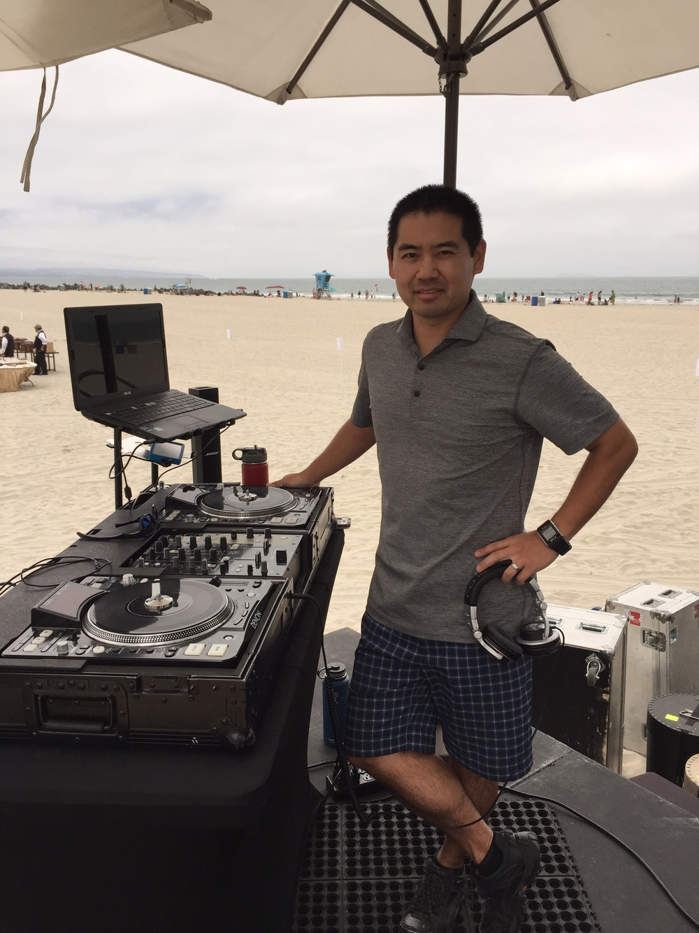 San Diego DJ, Justin Kanoya, performs at the 2015 Hotel Del Coronado Flag Day Concert. He was the opening act for the Gary Sinise's, Lt. Dan Band.