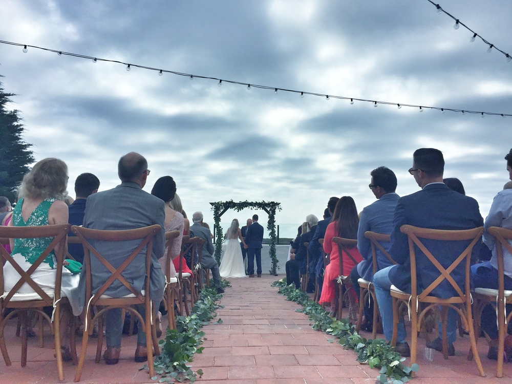 Chad and Ashley get married at the Historic Cottage at San Clemente State Beach.