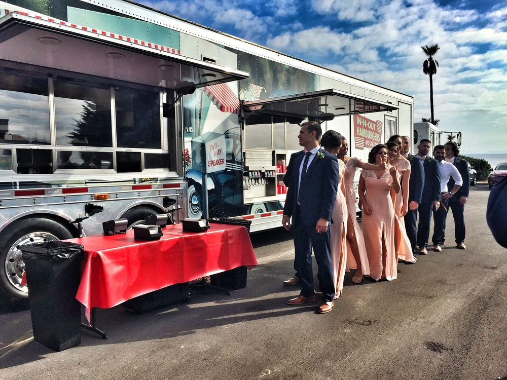 In 'n Out catered the wedding with their famous burgers and fries.