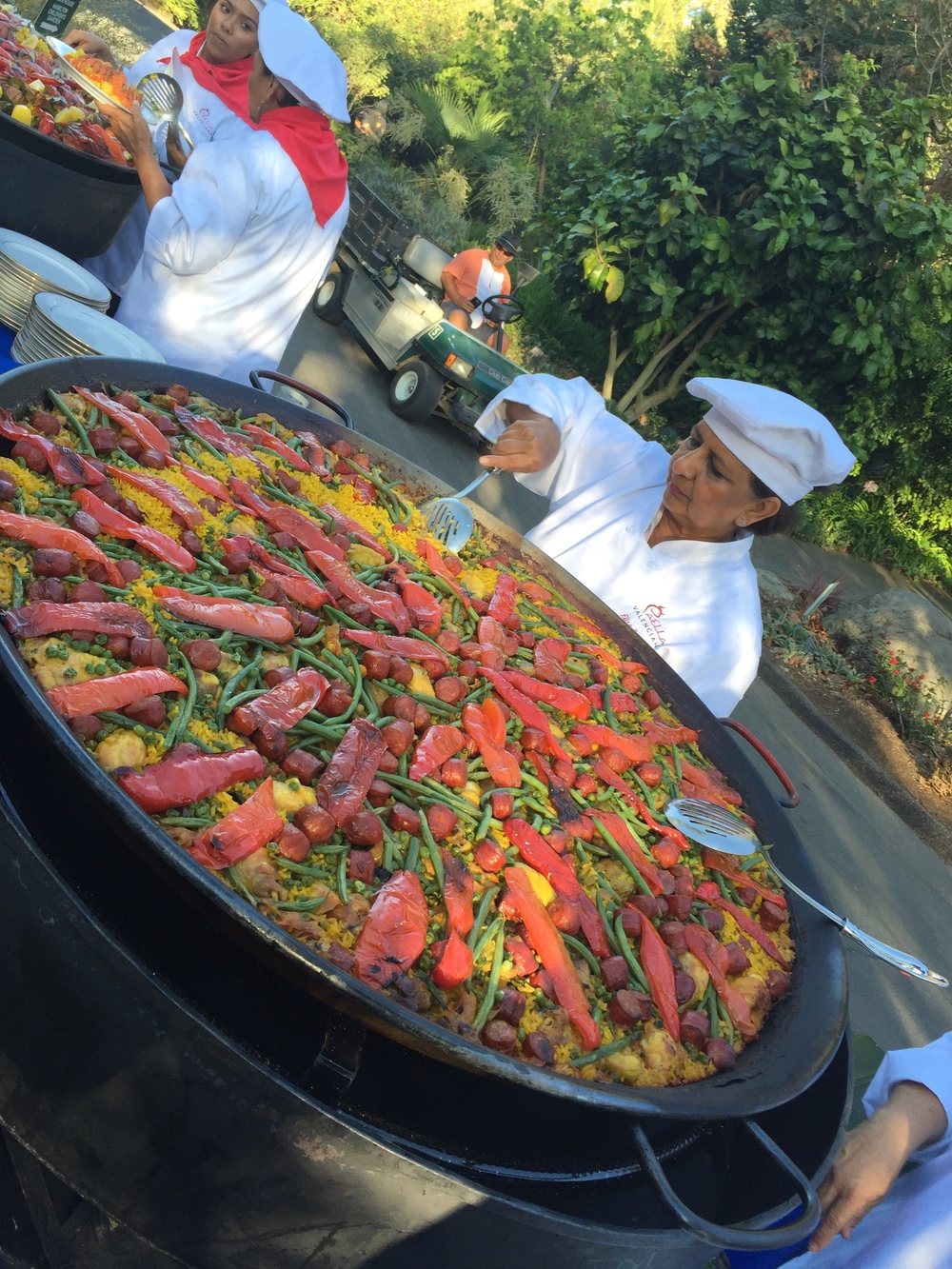 Paella   served at a wedding at the San Diego Botanic Garden.