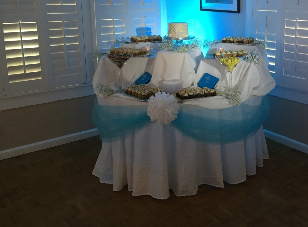 Cake table lighting