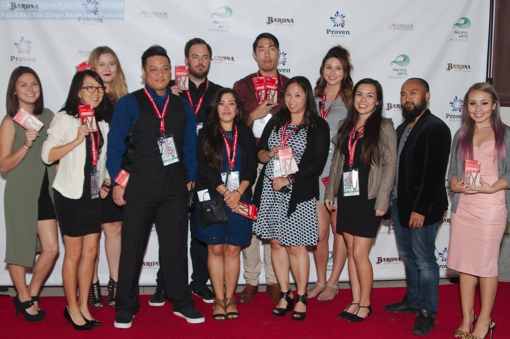 Pacific Arts Movement staff members that helped put on the 2016 San Diego Asian Film Festival.