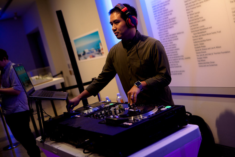 San Diego DJ Justin Kanoya at the closing night event for the San Diego Asian Festival.