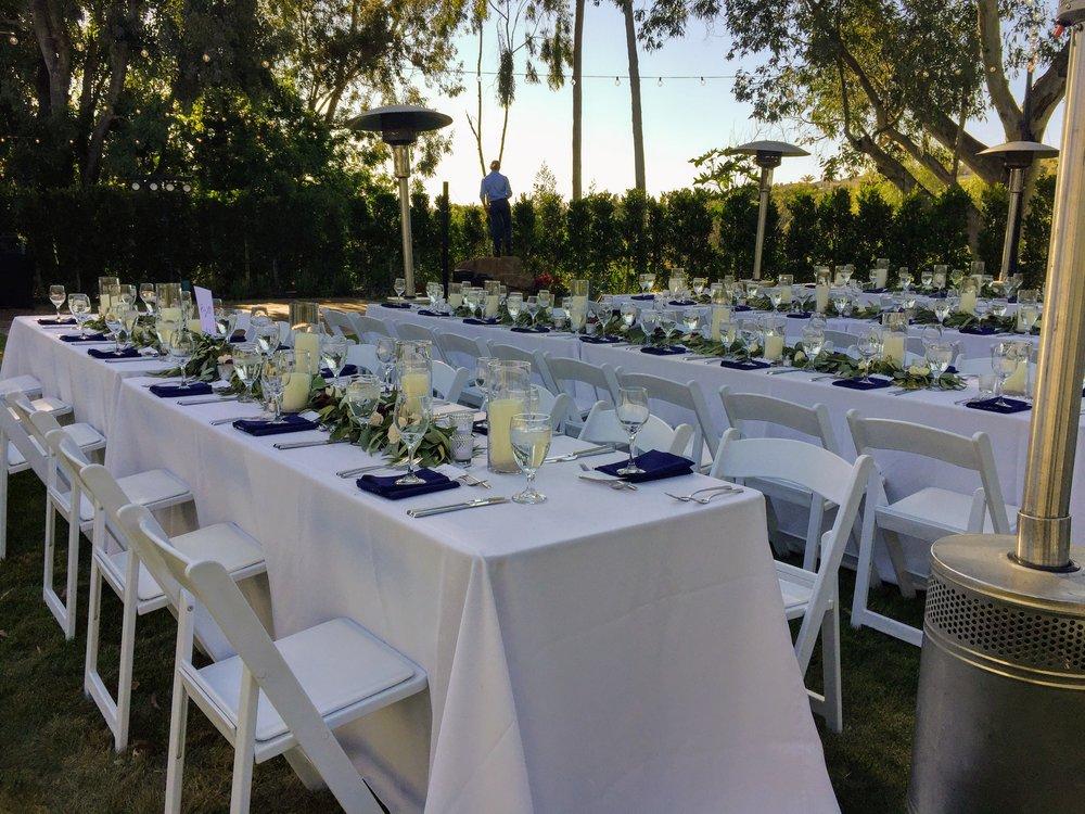 A Wedding Reception Set-up A Hidden Meadow