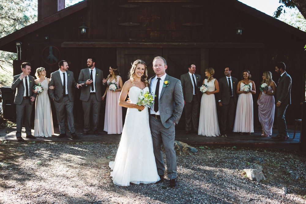 Kat and Scott married at the Sacred Mountain Retreat in Julian, California.