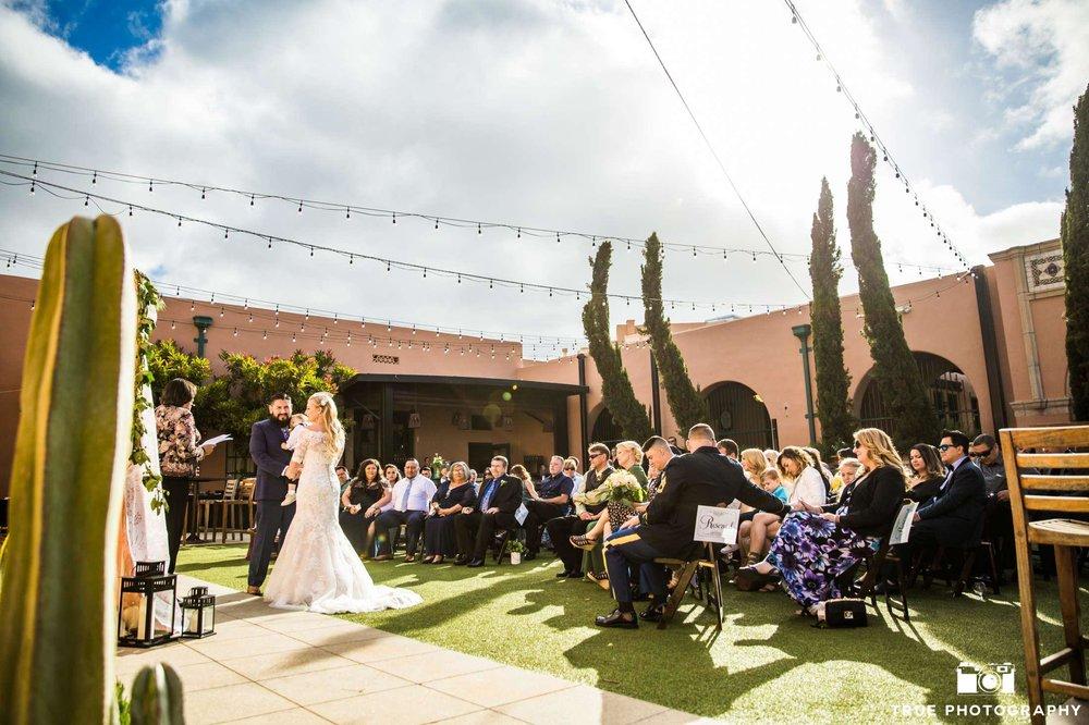 Stone Brewery Wedding Ceremony
