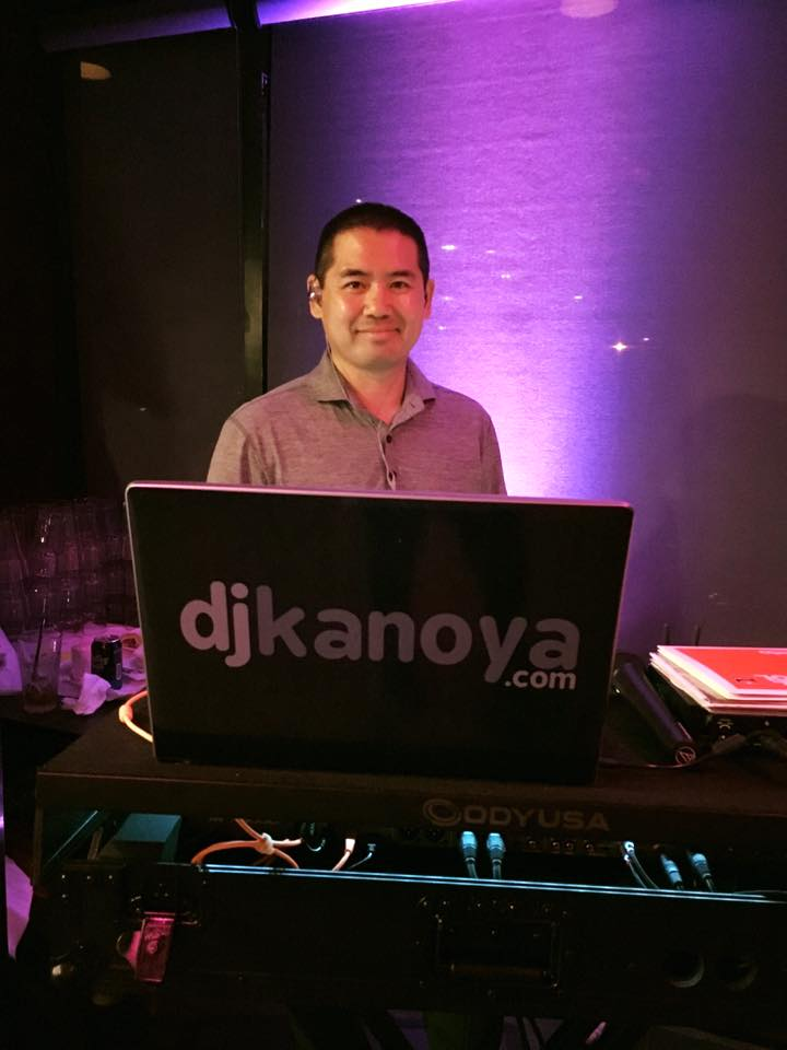 San Diego DJ, Justin Kanoya, spins music at the one year anniversary party for Koi Bar.