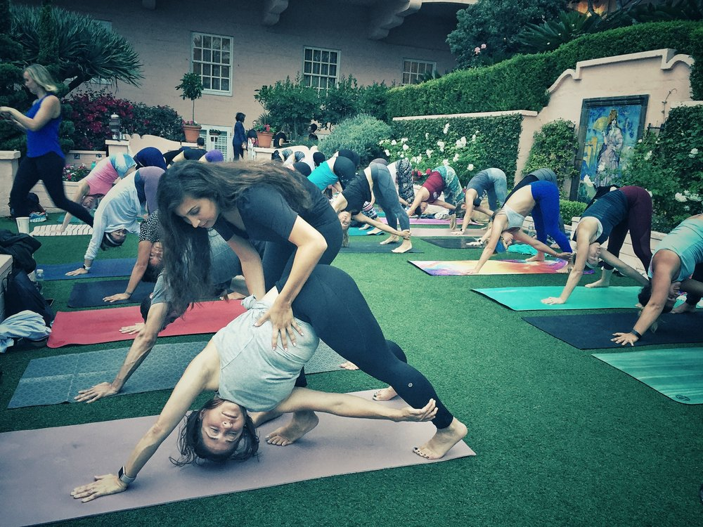 Sara Shermis teaches yoga for Savasana at Sunset