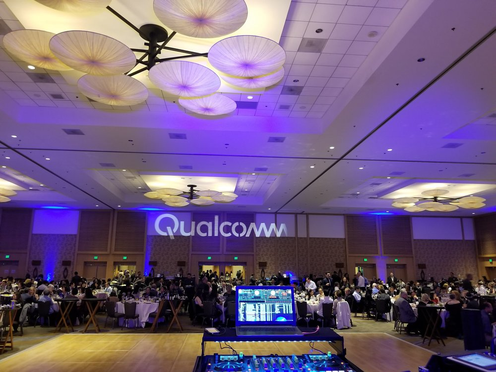 Qualcomm's engineering team celebrated the year end with a team wide party at the San Diego Bayfront Hilton.