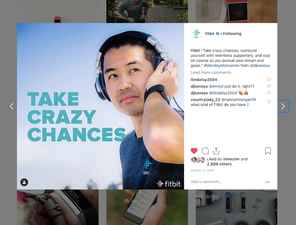 Fitbit Instagram - Take Crazy Chances