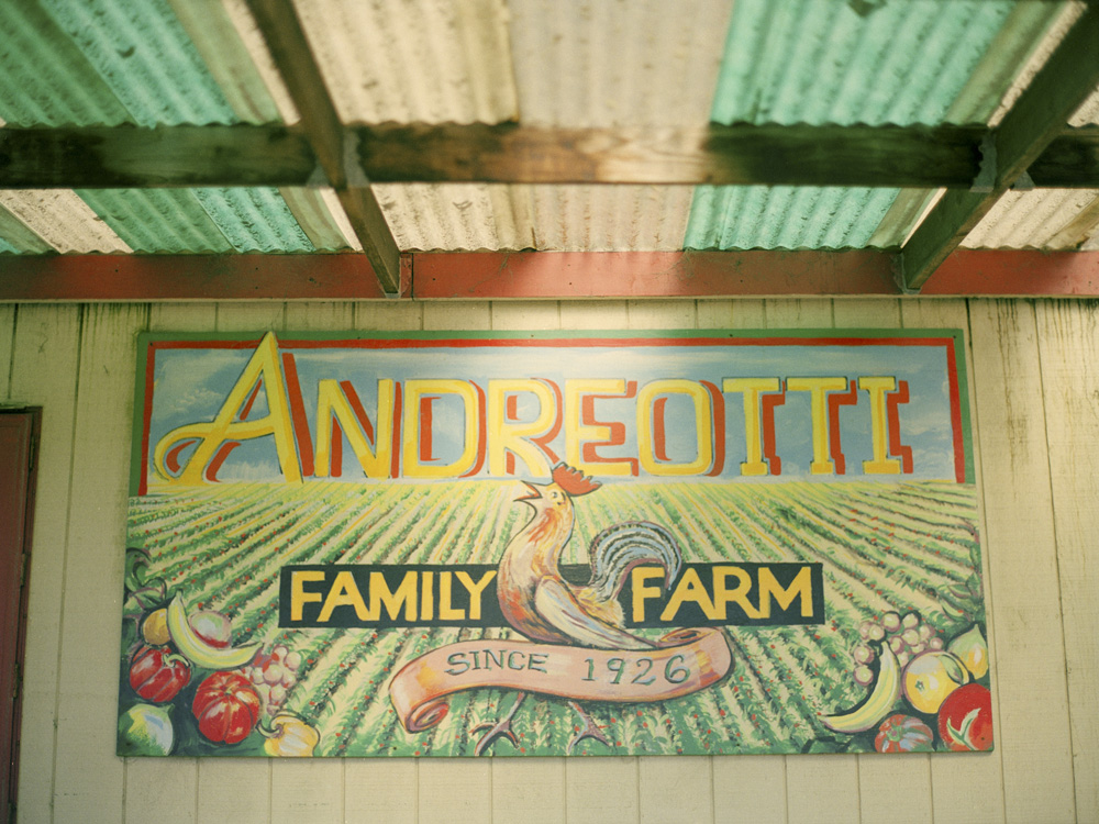 Andreotti Family Farm Sign in Half Moon Bay