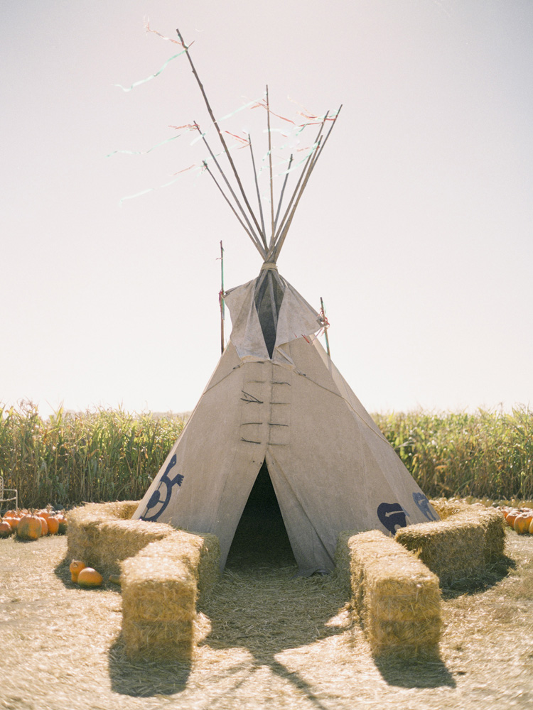 Teepee at Farmer John's Pumpkin Patch in Half Moon Bay