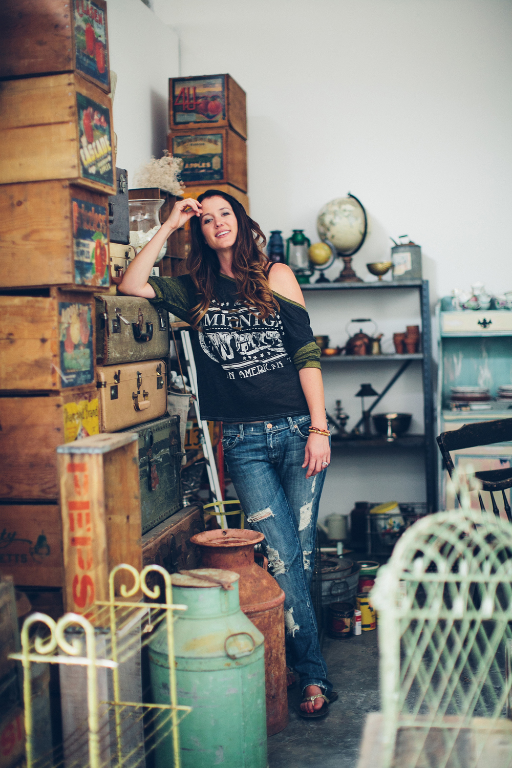 Fashion & Brand Photographer, Jennifer Skog photographs owner of Milk Glass Vintage Rentals, PJ Rude