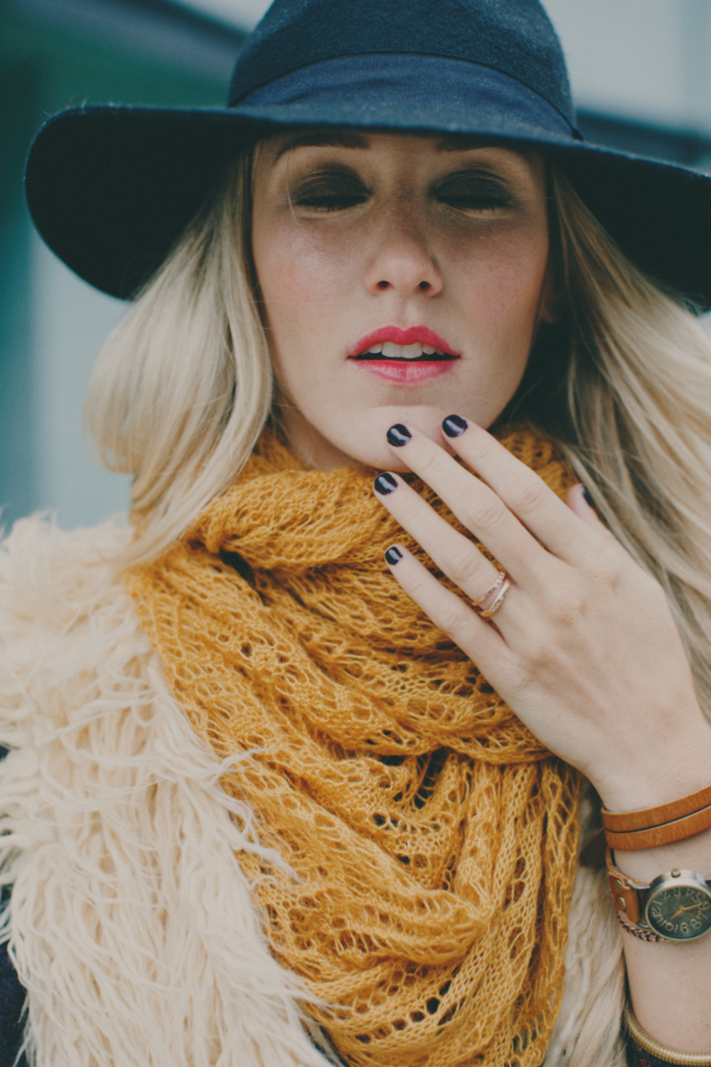 Fashion Photographer, Jennifer Skog�s city hipster winter lookbook shoot for Three Bird Nest