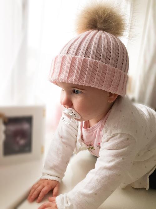 ac74e0ed23a Luxury kids pompom hat - Baby Pink — mylittlewears