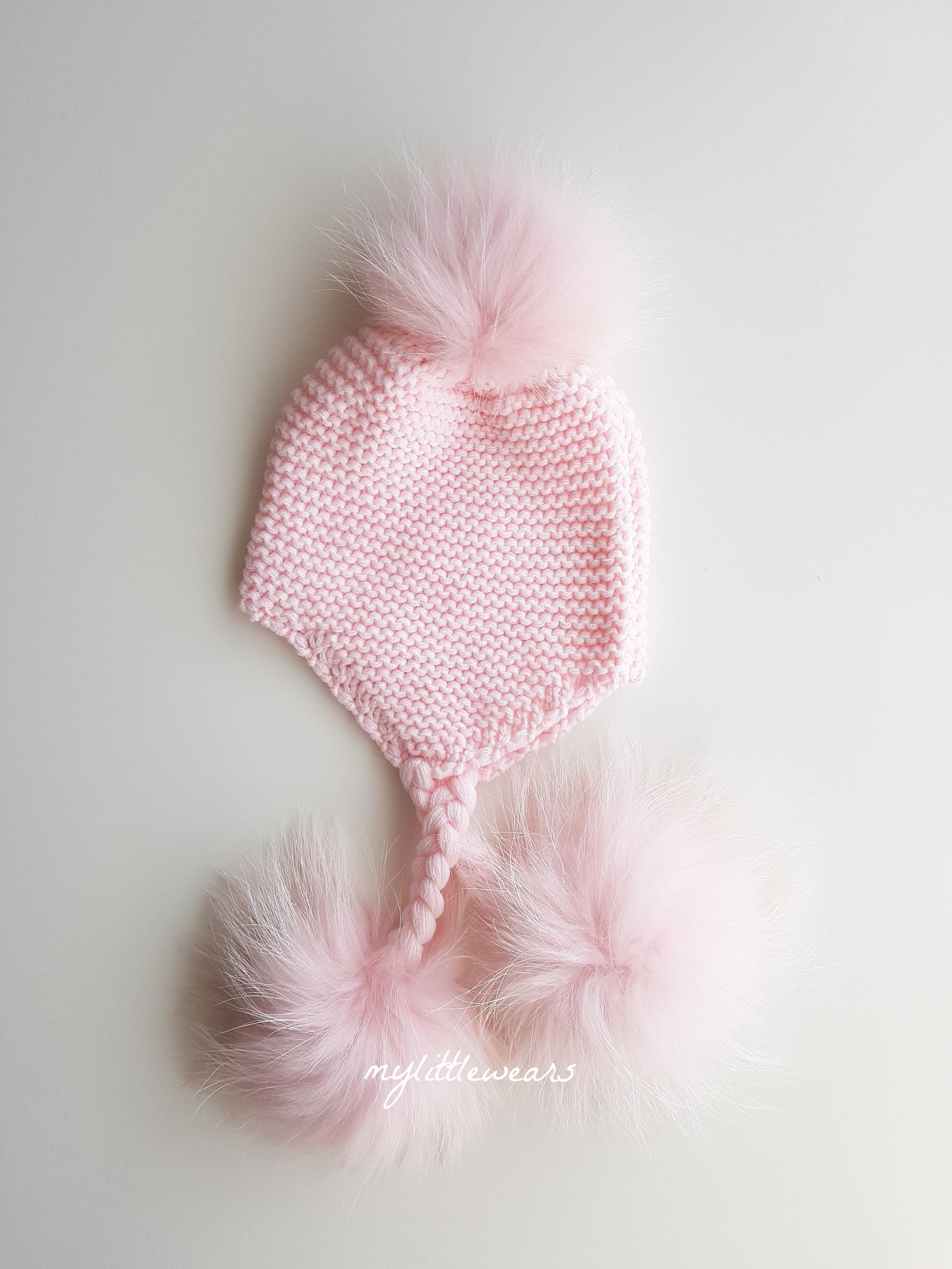 8016d06fcae Pretty In Pink Triple Pom Hat — mylittlewears