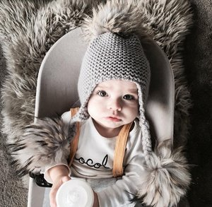 97902b5c927 Knitted Pom Hat With Tassels — mylittlewears