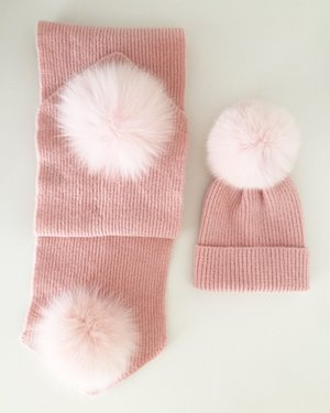 a8b52404fcc Minnie Mouse PomPom Hat   Scarf Set - Cappuccino Cream. 50.00. Quick View. Baby  Pink IMG 8418.