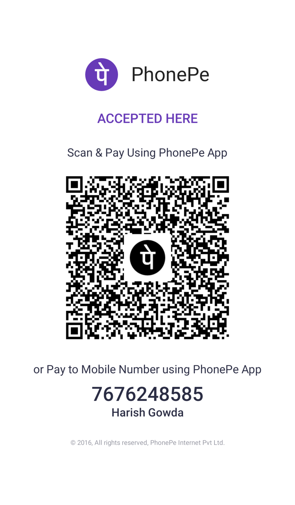 SCAN THE PAYTM QR CODE TO PAY