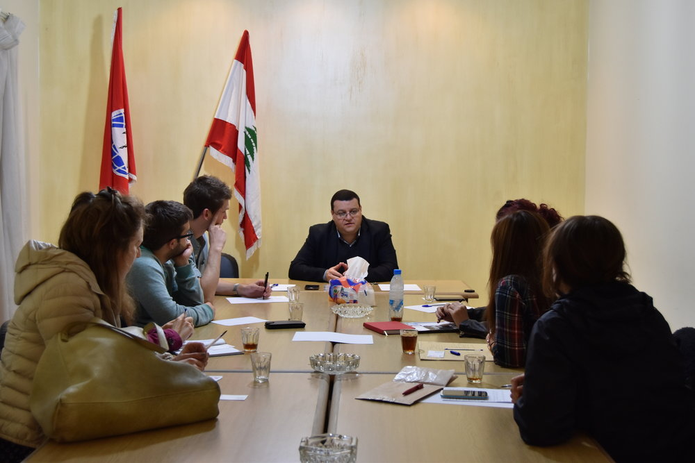 Lebanon's Progress Socialist Party layout their proposals for solving the country's ongoing refugee crisis.          Beirut, Lebanon, January 2016